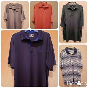 LOT OF 5 GOLF SHIRTS